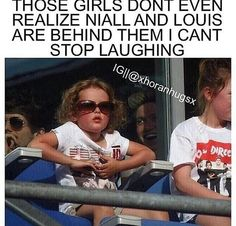 Look at Niall in the background!!! lol<<<Honestly if I turned my head to see that I would scream my head off in terror and then I would scream and cry for completely different reason