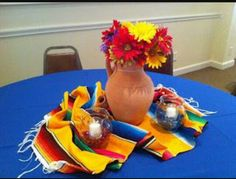 Ideas party ideas mexican fiesta decorations for 2019 Mexican Birthday Parties, Mexican Fiesta Party, Fiesta Theme Party, Birthday Party Tables, Festa Party, Party Themes, Ideas Party, Theme Parties, Theme Ideas