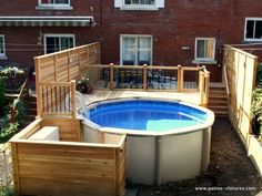 Above Ground Pool Privacy Screen i really want to make one of these for our pool! certainly not