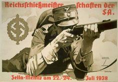 German Reich Shooting Championships of SA, propaganda poster.