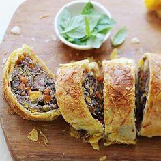 Hoofdgerecht - ovengerecht - vlees - Wellington met tomaat en olijven
