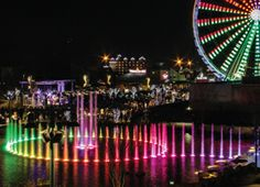The Island in Pigeon Forge, Tennessee, is the area's main outdoor shopping district, including restaurants, rides and attractions