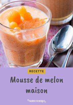 Découvrez cette mousse de melon à la fois sucrée et rafraîchissante #recette #cuisine #dessert