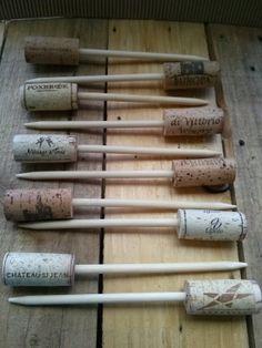 Set of 20 Wine Cork Skewers by antipasto on Etsy, $22.00
