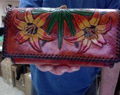 Monedero / bolso / mujeres / bella amapola flores por Delosleather