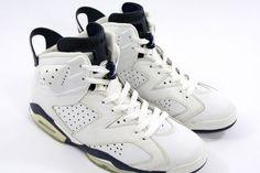 Air Jordan 6 VI Retro White Midnight Navy Shoes $95