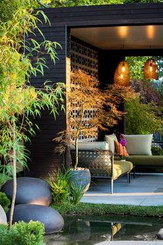 Japanese Garden Design, Modern Garden Design, Patio Design, Landscape Design, Garden Design Ideas, Acer Garden, Japanese Maple Garden, Japanese Gardens, Minimalist Garden