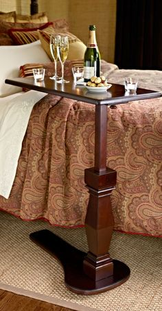 Crafted to the standards of fine furniture, our solid-mahogany Avondale Telescoping Table adjusts to three positions.