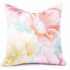 Pastel Floral Pillow Cover Lemon Peach Pillow Asian Vintage Japanese... ($38) ❤ liked on Polyvore featuring home, home decor, throw pillows, pillows, decorative pillows, pink, home & living, home décor, floral home decor and pink throw pillows
