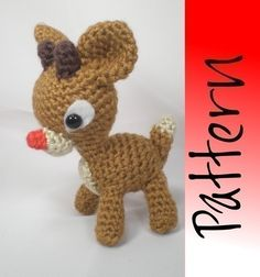 Rudolph the Red Nose Reindeer - An Amigurumi Pattern. $5.00, via Etsy.
