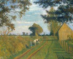 Otto Modersohn-Weg (Timpen) in der Abendsonne