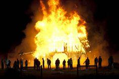 The Walking Dead - barn burning scene. Awesome!