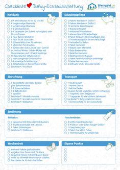 babys erstausstattung mit checkliste zum download baby products pinterest baby baby. Black Bedroom Furniture Sets. Home Design Ideas