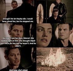 Klaus was so angry and in this scene it showed how much he truly loved Hayley...