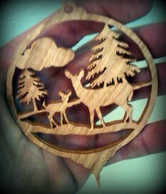Deer Christmas Ornament Scroll Saw