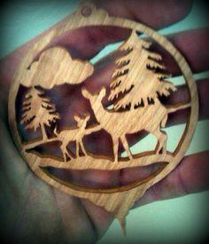Deer Christmas Ornament Scroll Saw