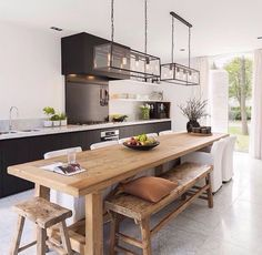 20 Beautiful Kitchen Islands With Seating | Pinterest | Long kitchen ...