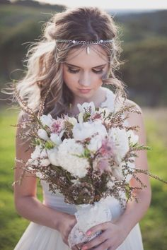 Drop-Dead Gorgeous Wedding Dresses - wedding hairstyle; Lucinda May Photography