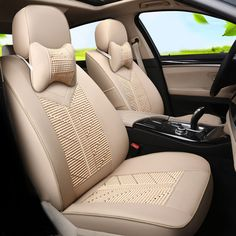 Ice Silk Fabric Car Seats fit for Mini Countryman Seat Covers Leather Front&Back Seat Protector Custom Car Seat Cover Interior #Affiliate