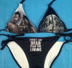 Walking Dead bikini - just in time for summer! Just imagine this, on the beach, with the zombie apocalypse charm bracelet. Ace.