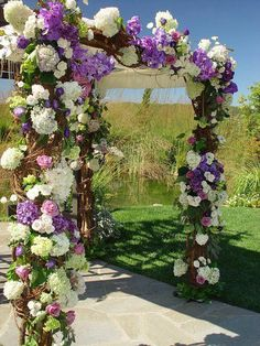 wedding idea for arbor or arch-have seen live arbors used in sanctuaries also