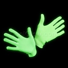 Glow in the Dark and Blacklight Gloves