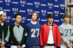 NII and Winner, #winner #jinwoo #seungyoon #seunghoon #mino #taehyun #kpop #YG