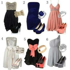 Shoes and dresses. Pretty outfits