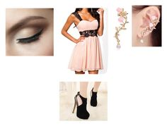 """""""Pink dress"""" by midnighttt ❤ liked on Polyvore"""