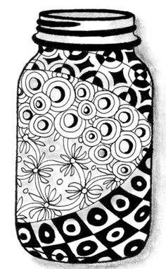 Zentangle Jar