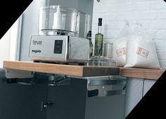 Love this idea - functional mixer/food processor storage