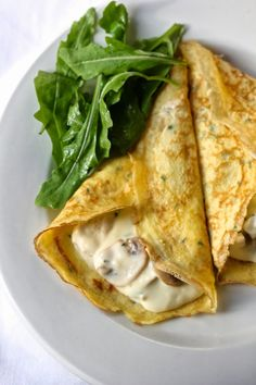 Chicken and Mushroom Crepes | A Red Binder