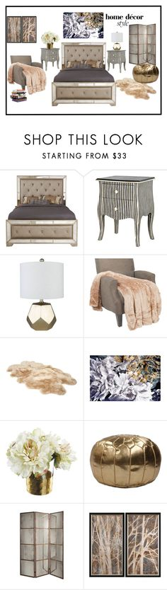 """Cool Bedroom vibes"" by boutiquebrowser ❤ liked on Polyvore featuring interior, interiors, interior design, home, home decor, interior decorating, Surya, UGG, nuLOOM and Anna Sui"