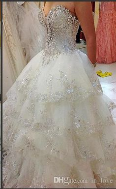 Let charming short wedding dress on DHgate.com get your heart. Besides, sparkly dresses and strapless dresses are also winners. ball gown princess wedding dresses 2015 layered new arrival elegant bridal w1429 best made spring crystal gorgeous shiny stunning beautiful belong to you and in_love can cheer you up.