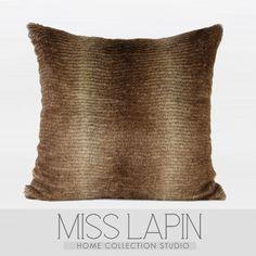 MISS LAPIN/简约现代设计师样板房沙发床头抱枕/渐变咖色毛绒方枕-淘宝网