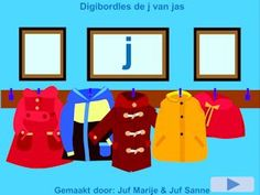 Digibordklankles de j van jas - Juf Marije en Juf Sanne