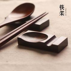 楠木-筷勺双用架 原木筷子架 实木筷子托 筷托筷枕 日式和风餐具