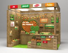 Multibrand stand for Coca Cola on Behance Pop Display, Display Design, Booth Design, Kiosk Design, Store Design, Juice Bar Interior, Food Cart Design, Fruit Shop, Exhibition Stall