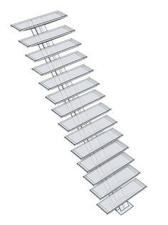 Escalier limon central droit descente escalier for Descente d escalier interieur