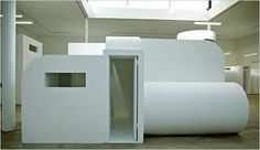 """""""Cellule No. 3 (Prototype), 1992,"""" by Absalon, at the KW Institute for Contemporary Art."""