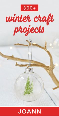 When the weather cools down, it becomes a great time to get crafting! Check out this collection of Winter Craft Projects from JOANN to find your next creative activity. Christmas Ornament Crafts, Christmas Crafts For Kids, Diy Christmas Gifts, Rustic Christmas, Christmas Projects, Simple Christmas, Holiday Crafts, Christmas Holidays, All Things Christmas