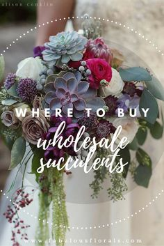 Wedding Succulents! Wedding Trends 2018 ! How To DIY Wedding Flowers! 2018 Wedding Flower Trends. Easy DIY Tutorials and How to Tips & Tricks! #diywedding #diyflowers #howtomakeabouquet www.howtodiyweddingflowers.com #succulents #anastasiastevenson