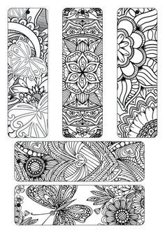 Bookmarks Free coloring plate adult with spectrum noir Free Printable Bookmarks, Diy Bookmarks, Bookmarks To Color, Bookmark Template, Crochet Bookmarks, Free Printables, Spectrum Noir, Book Markers, Zentangle Patterns
