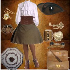 """""""Steam Lolita"""" by theeverydaygoth on Polyvore"""