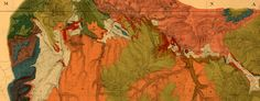Geological #map of #Yellowstone National Park (1878)