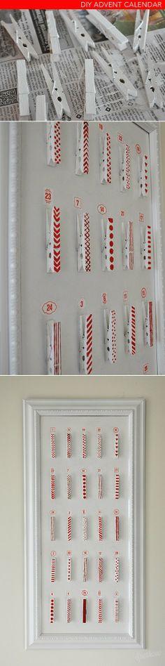 clothespin advent calendar