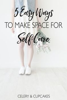 With all the overwhelm of everyday life, it can be hard to find some space for self care, but let me show you how with these 5 easy steps.