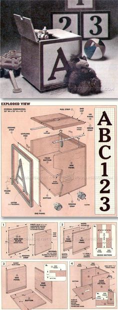 Wooden Toy Box Plans - Wooden Toys Plans and Projects  | WoodArchivist.com