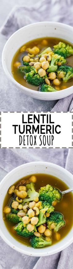 Lentil Turmeric Detox Soup! It tastes AMAZING and is super easy to make. It's also vegan, vegetarian, and gluten-free!