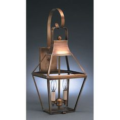Northeast Lantern Uxbridge 1 Light Outdoor Wall Lantern Finish: Dark Antique Brass, Shade Type: Clear